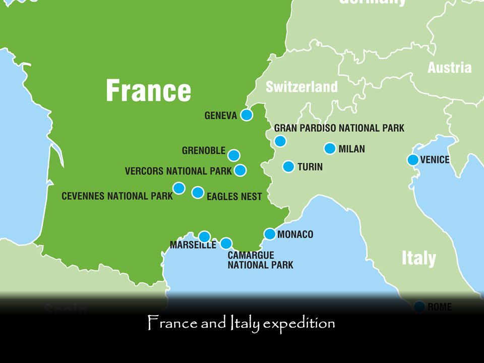 France and Italy expedition