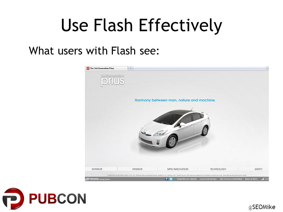 @ SEOMike Use Flash Effectively What users with Flash see: