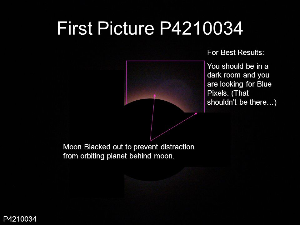 Scout 246 First Picture P Moon Blacked out to prevent distraction from orbiting planet behind moon.