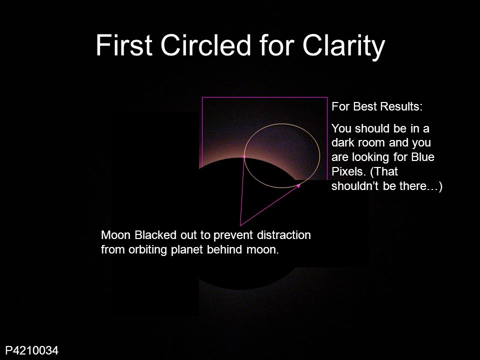 Scout 247 First Circled for Clarity Moon Blacked out to prevent distraction from orbiting planet behind moon.