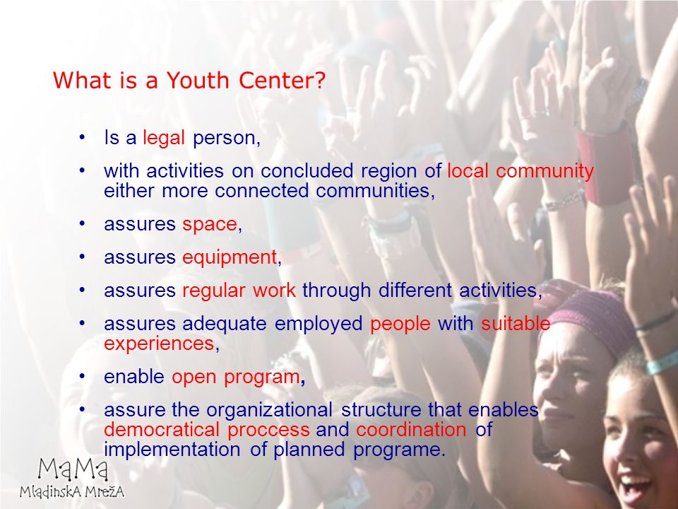 What is a Youth Center.