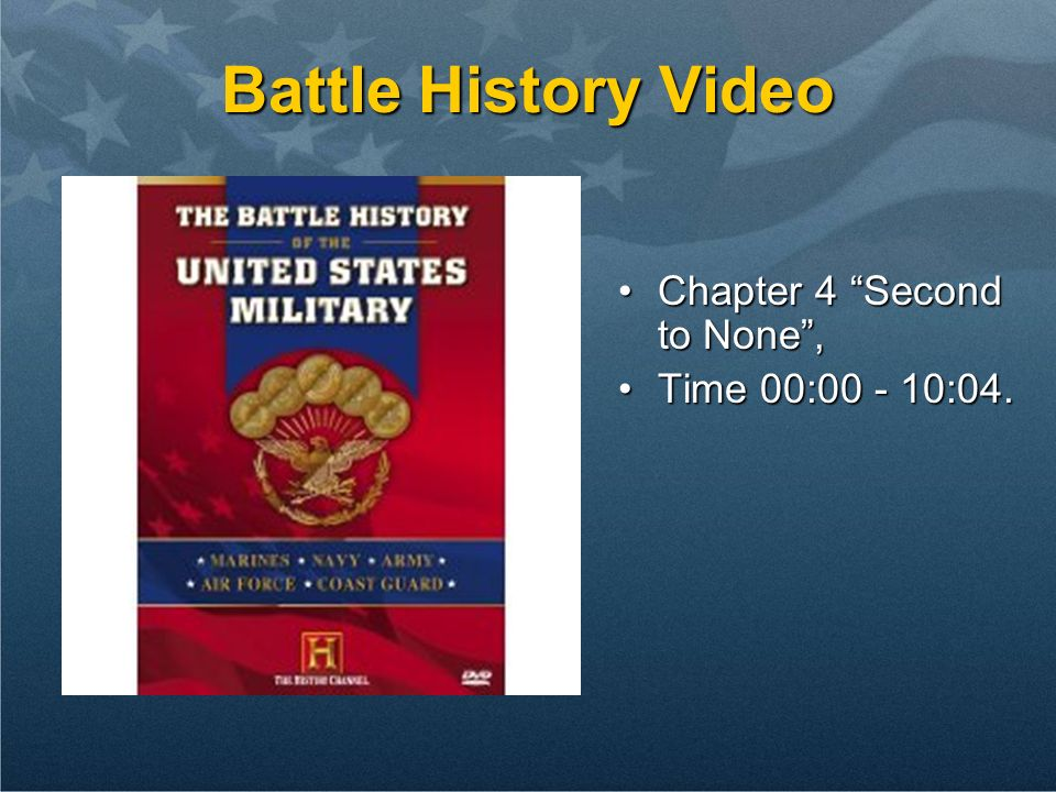 Battle History Video Chapter 4 Second to None,Chapter 4 Second to None, Time 00:00 - 10:04.Time 00:00 - 10:04.