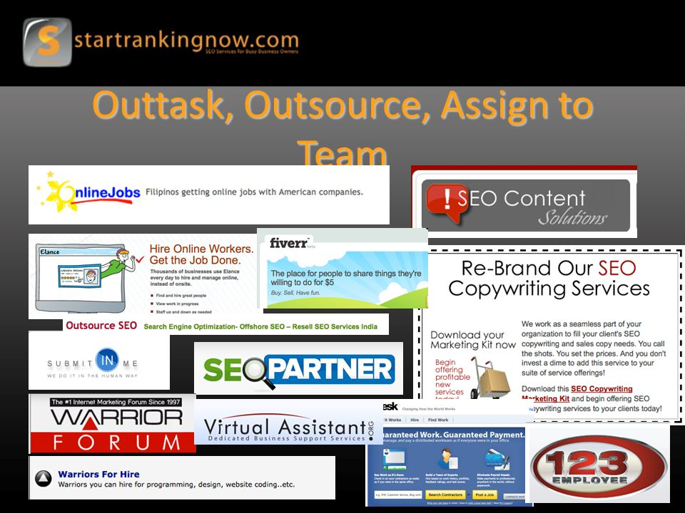 Outtask, Outsource, Assign to Team