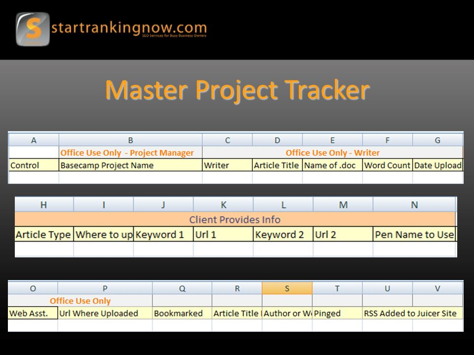 Master Project Tracker