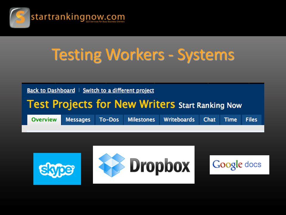 Testing Workers - Systems