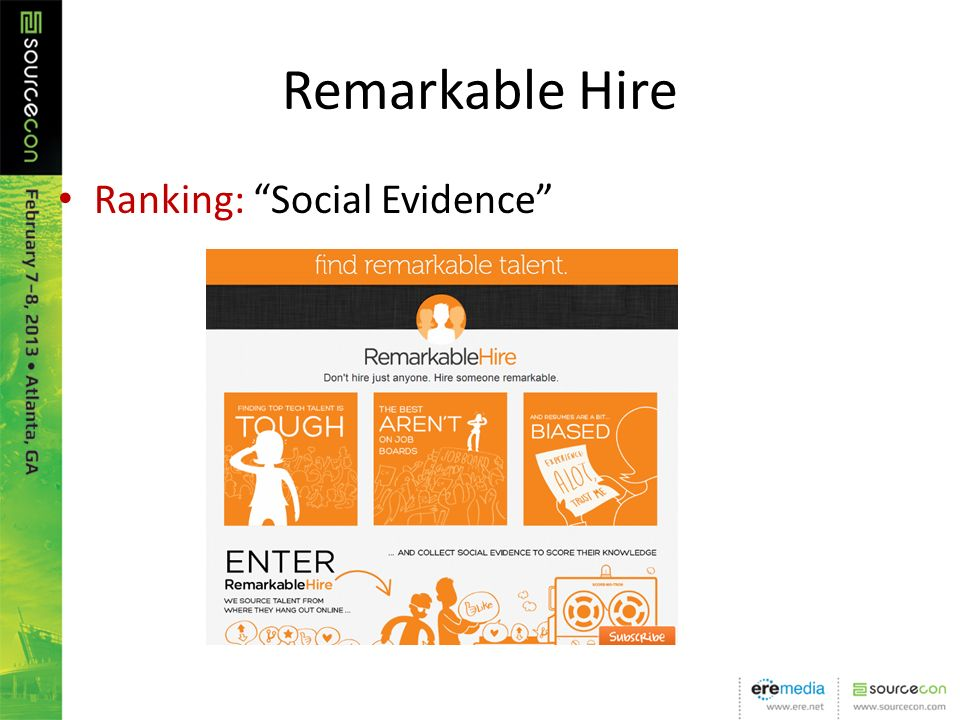 Remarkable Hire Ranking: Social Evidence