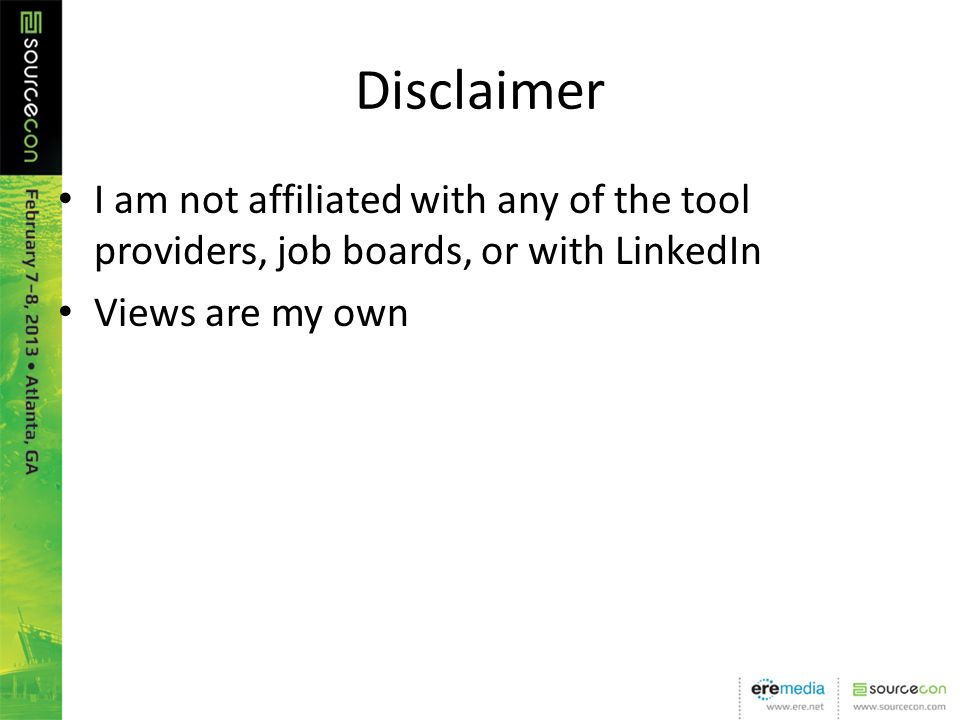 Disclaimer I am not affiliated with any of the tool providers, job boards, or with LinkedIn Views are my own