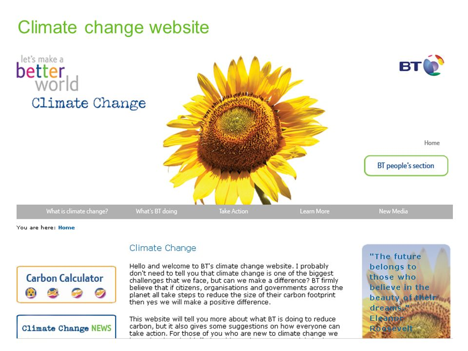 Climate change website