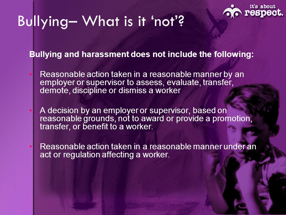 Bullying– What is it not.