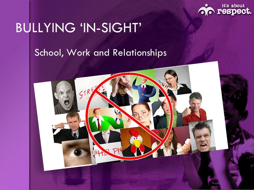 BULLYING IN-SIGHT School, Work and Relationships