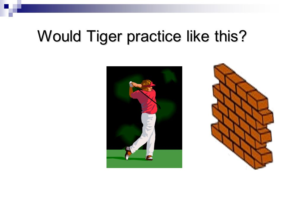 Would Tiger practice like this