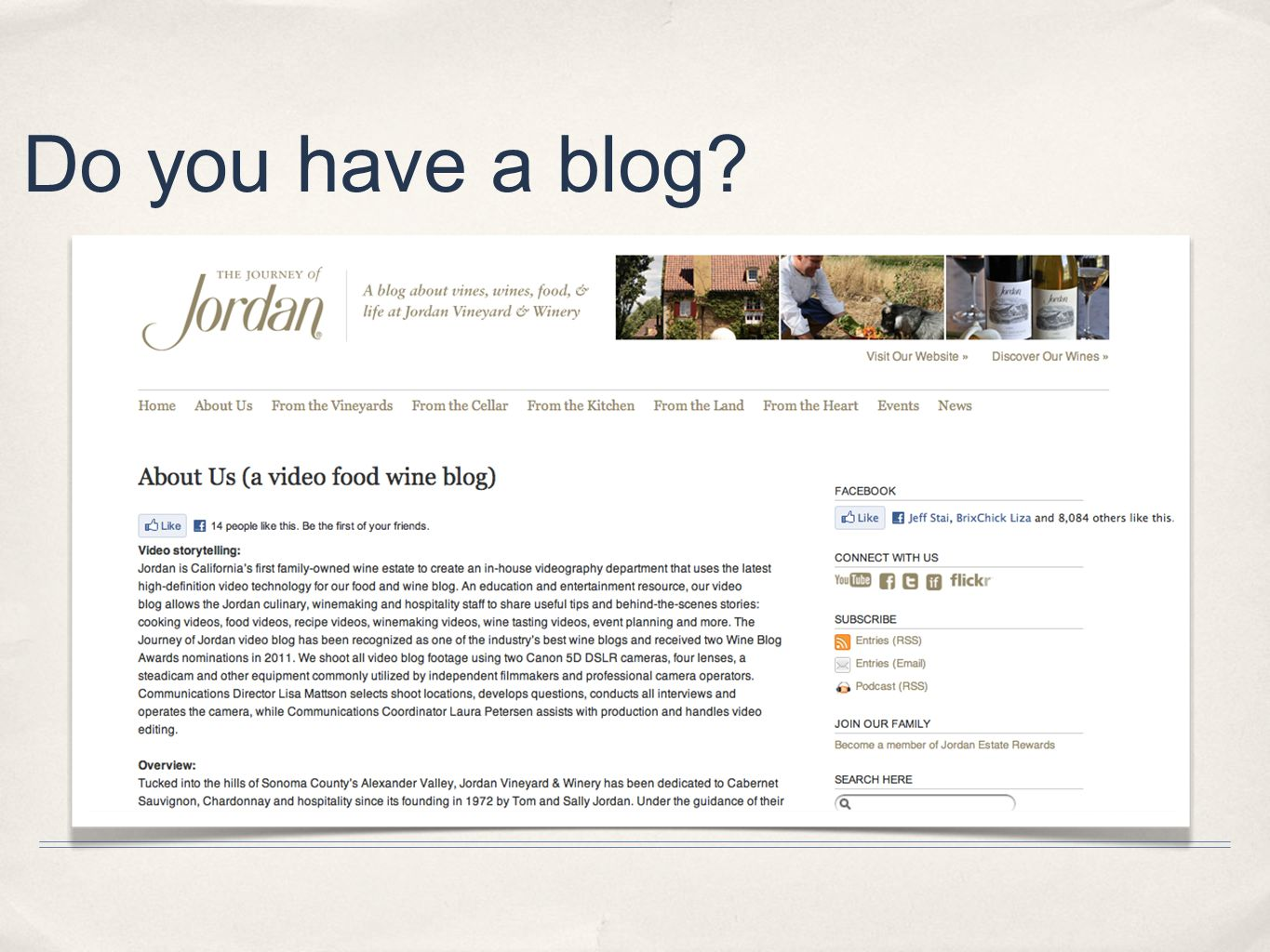 Do you have a blog