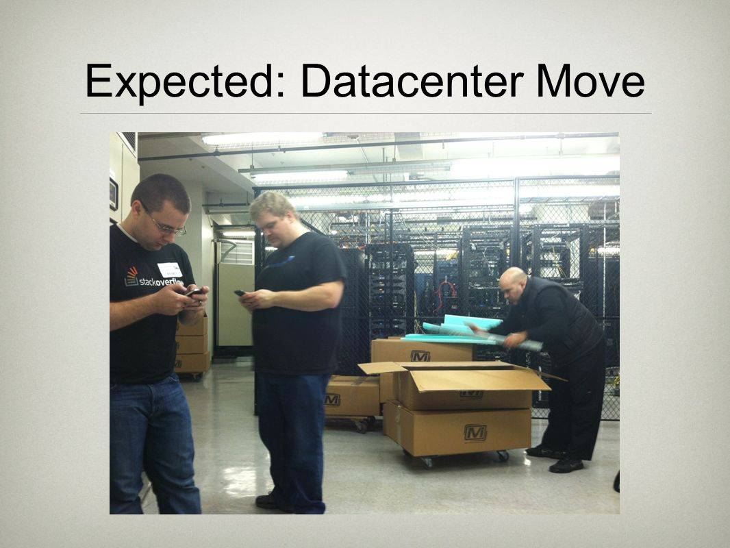 Expected: Datacenter Move