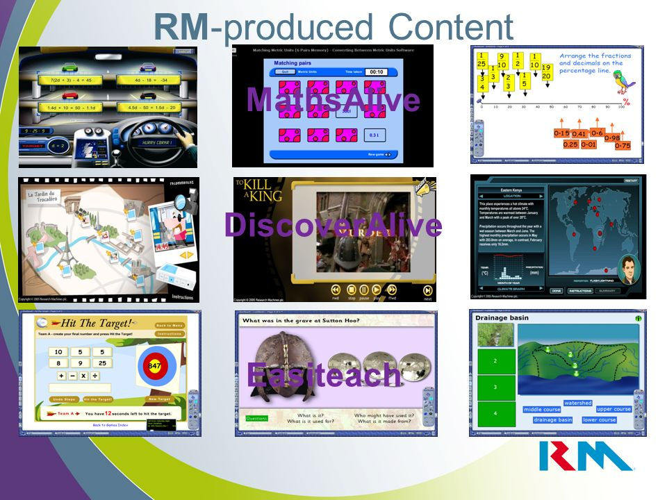 RM-produced Content DiscoverAlive Easiteach MathsAlive