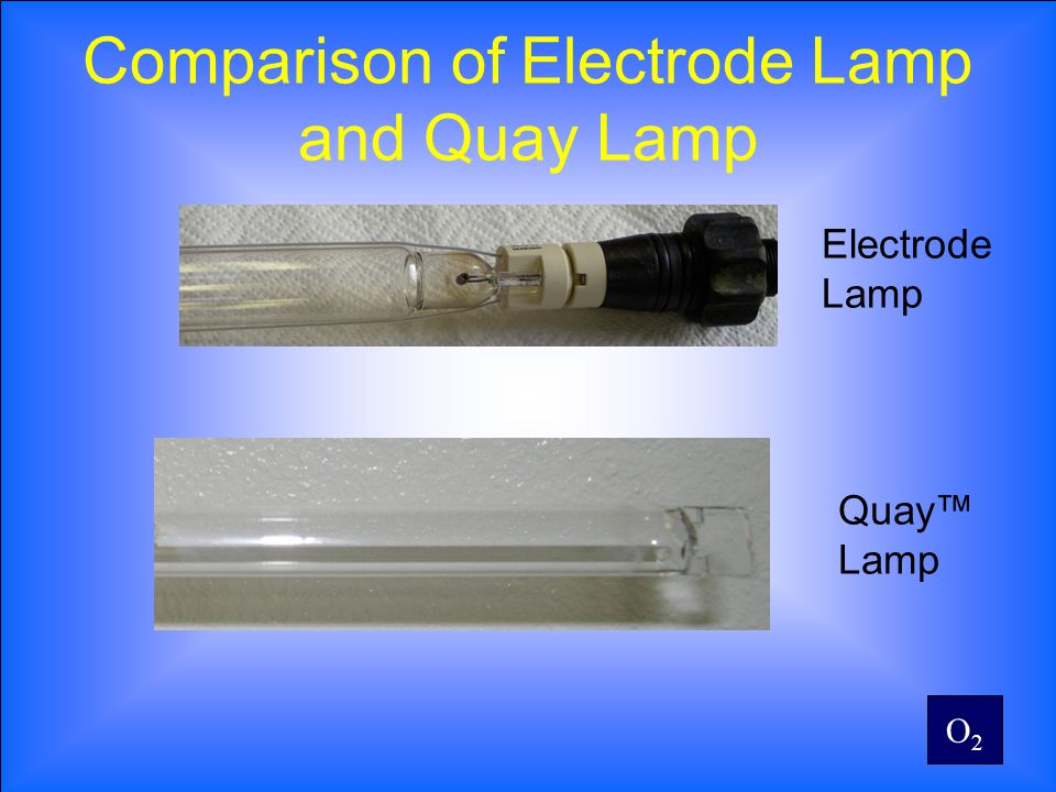 O2O2 Comparison of Electrode Lamp and Quay Lamp Electrode Lamp Quay Lamp