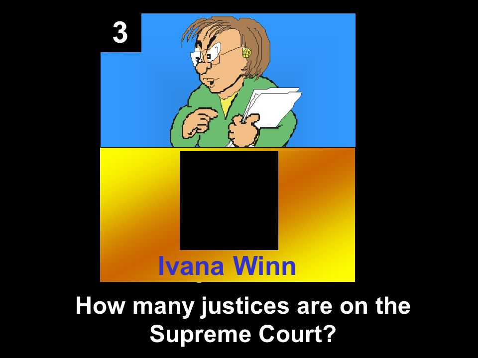 3 How many justices are on the Supreme Court Ivana Winn
