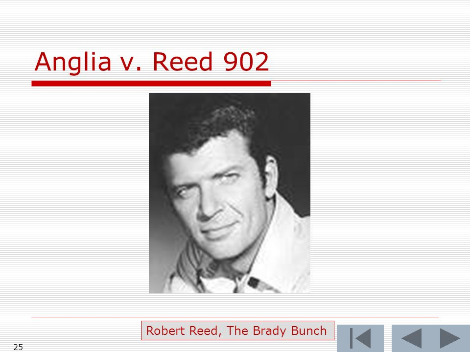 Anglia v. Reed Robert Reed, The Brady Bunch