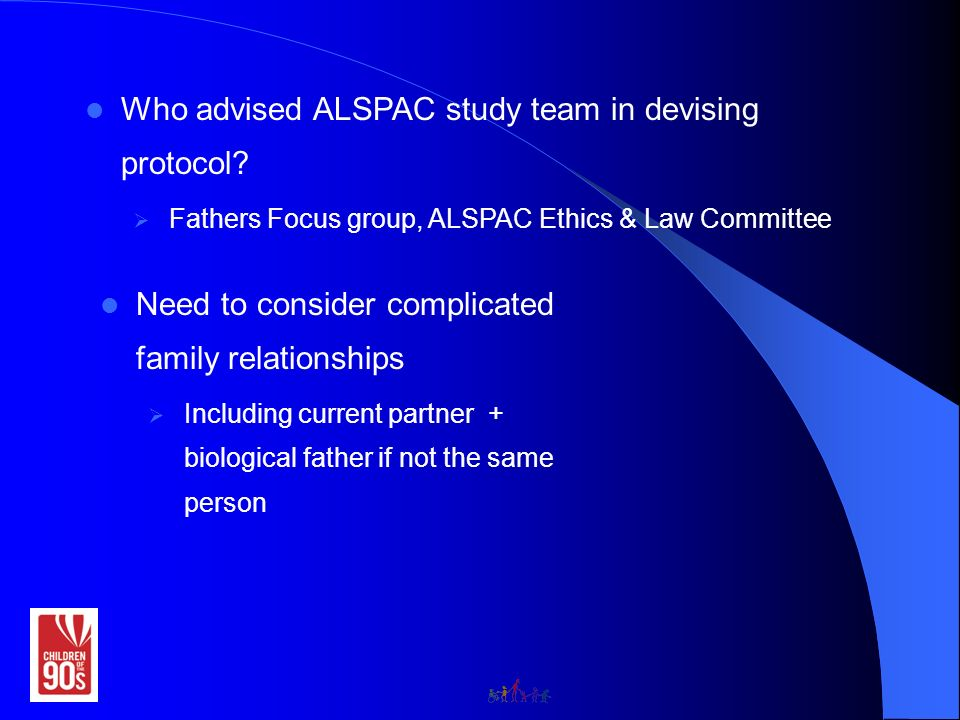 Who advised ALSPAC study team in devising protocol.