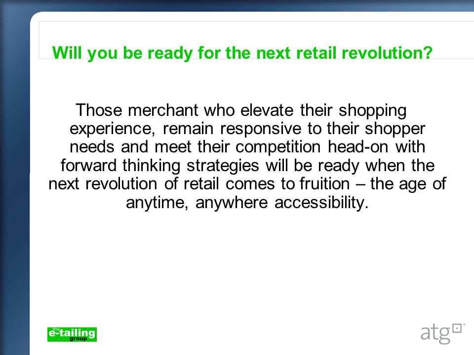 Will you be ready for the next retail revolution.