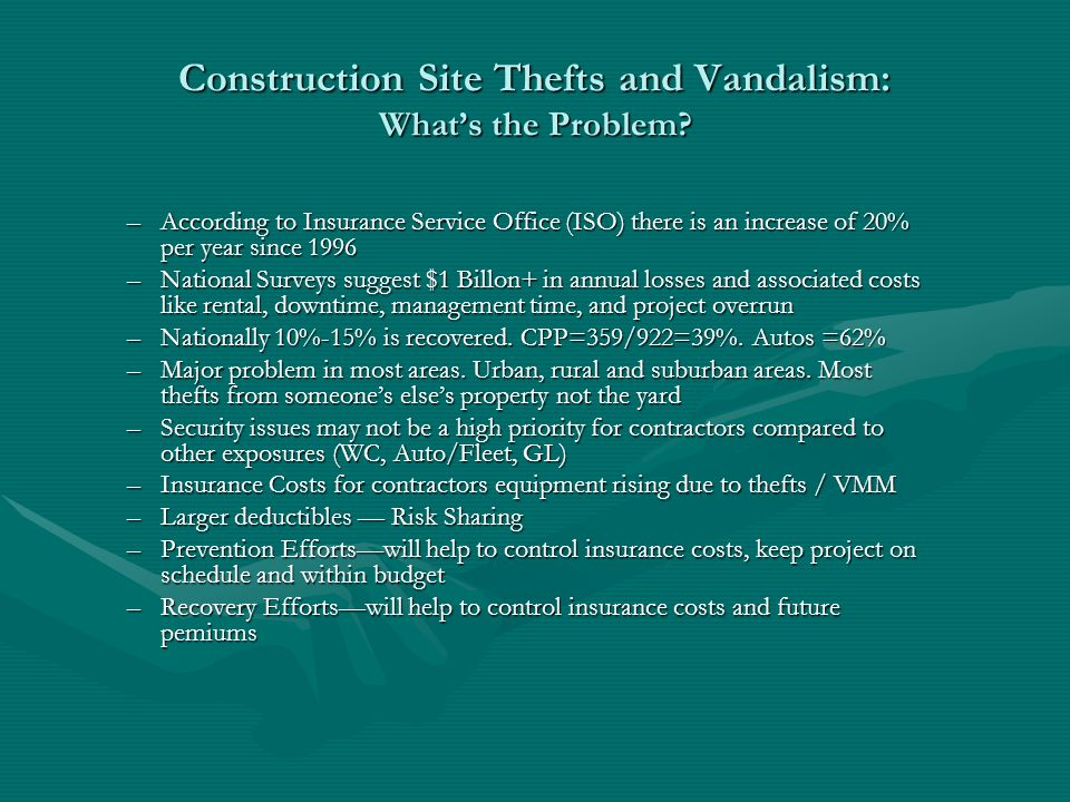Construction Site Thefts and Vandalism: Whats the Problem.