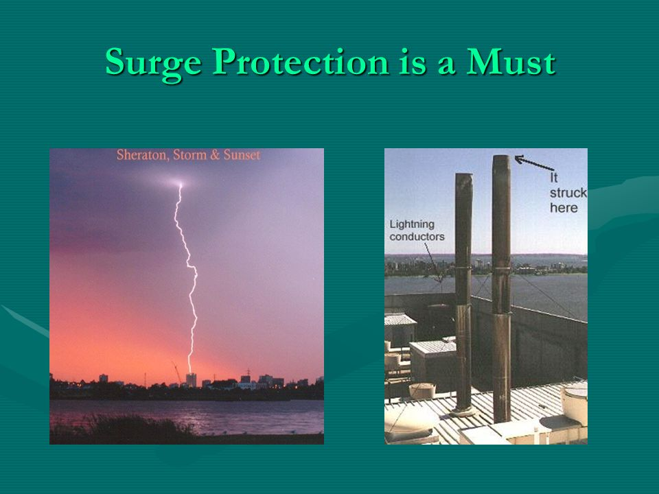 Surge Protection is a Must