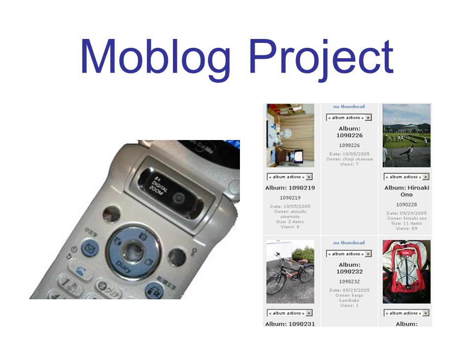Moblog Project