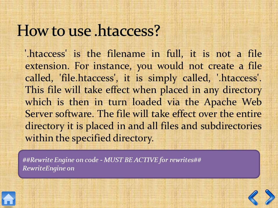 .htaccess is the filename in full, it is not a file extension.