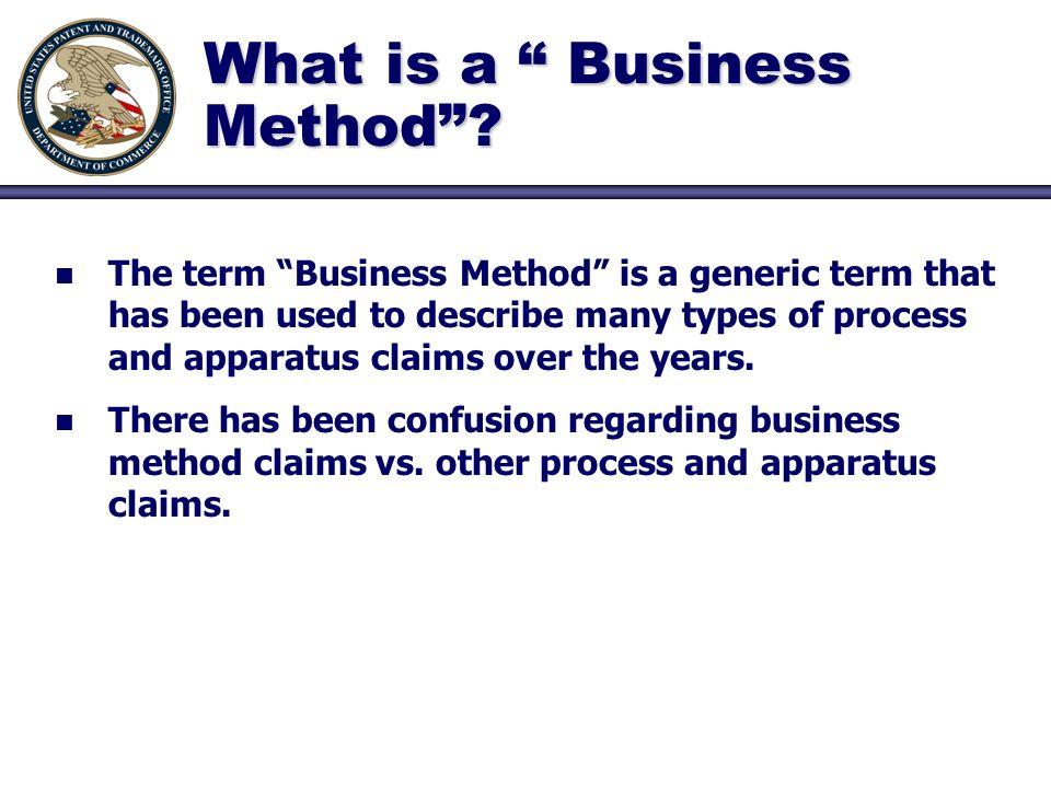 What is a Business Method.