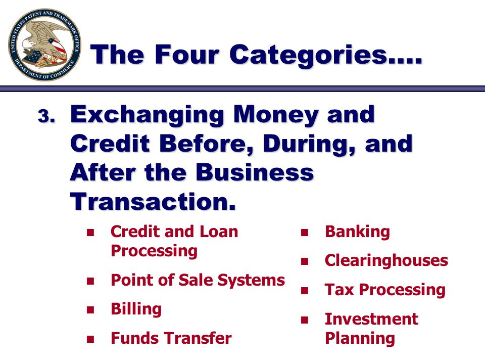 3. Exchanging Money and Credit Before, During, and After the Business Transaction.