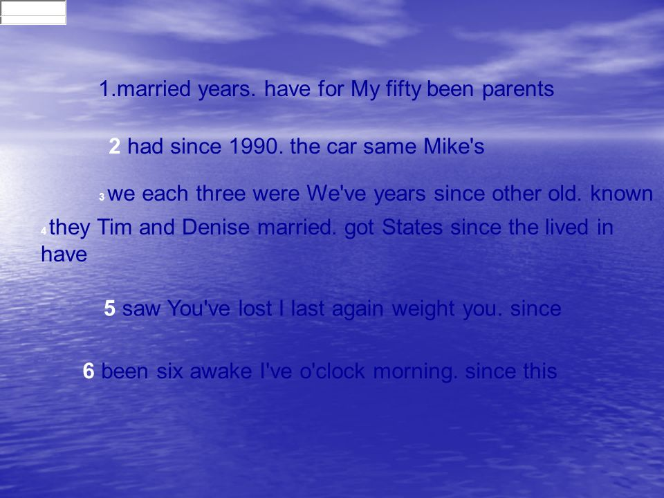1.married years. have for My fifty been parents 2 had since