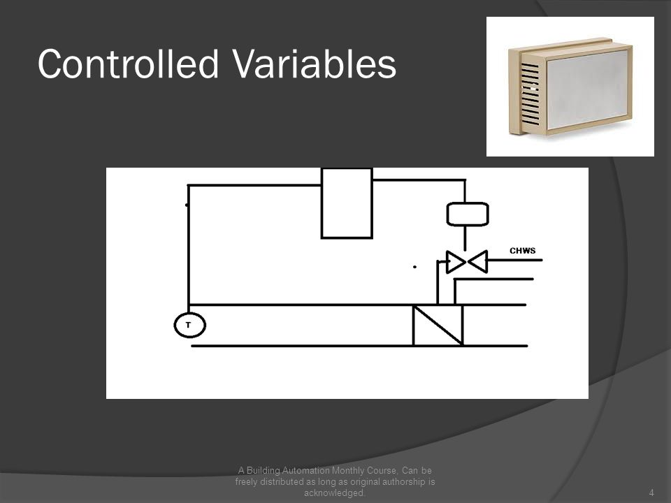 Controlled Variables A Building Automation Monthly Course, Can be freely distributed as long as original authorship is acknowledged.4