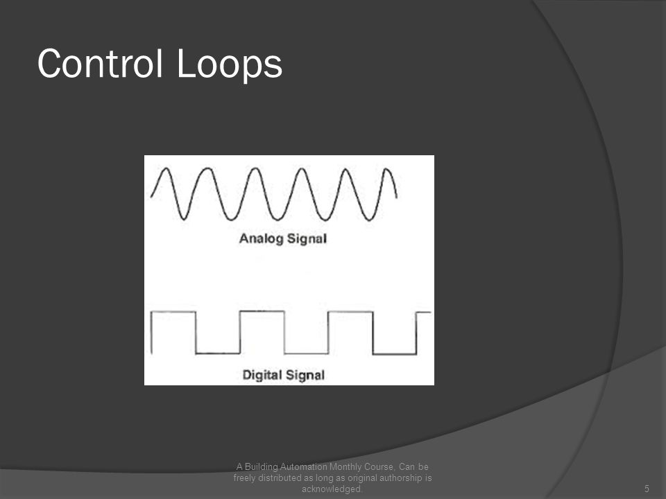 Control Loops A Building Automation Monthly Course, Can be freely distributed as long as original authorship is acknowledged.5