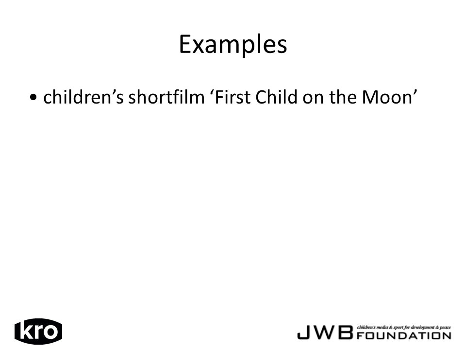 Examples childrens shortfilm First Child on the Moon