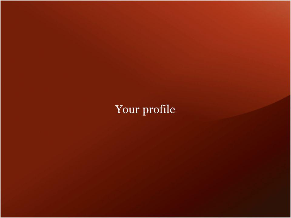Your profile