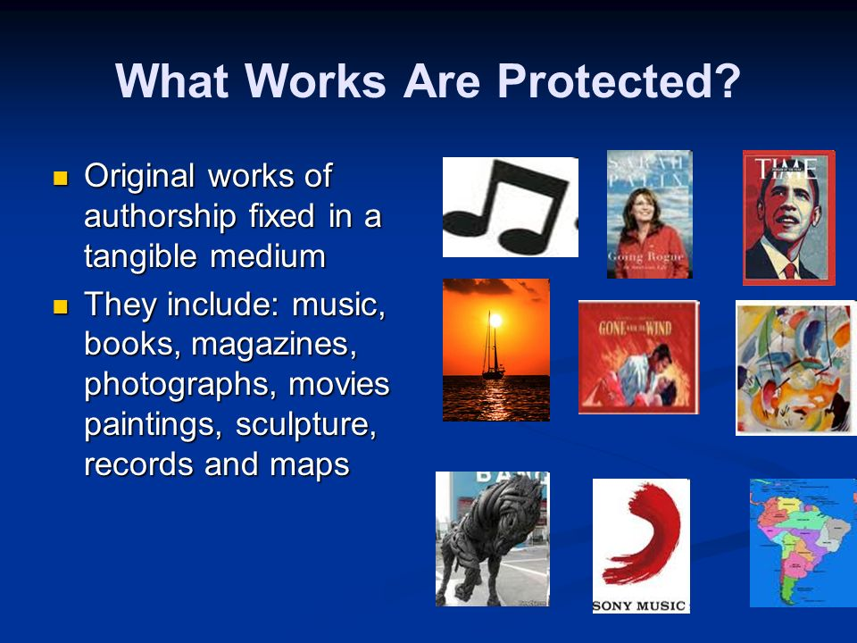 Lets Now Talk About How to Protect Your IP We begin with copyright