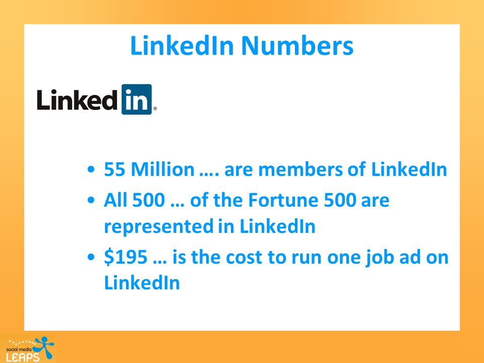 LinkedIn Numbers 55 Million ….