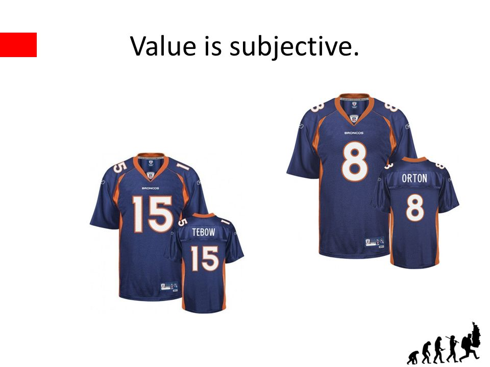 Value is subjective.