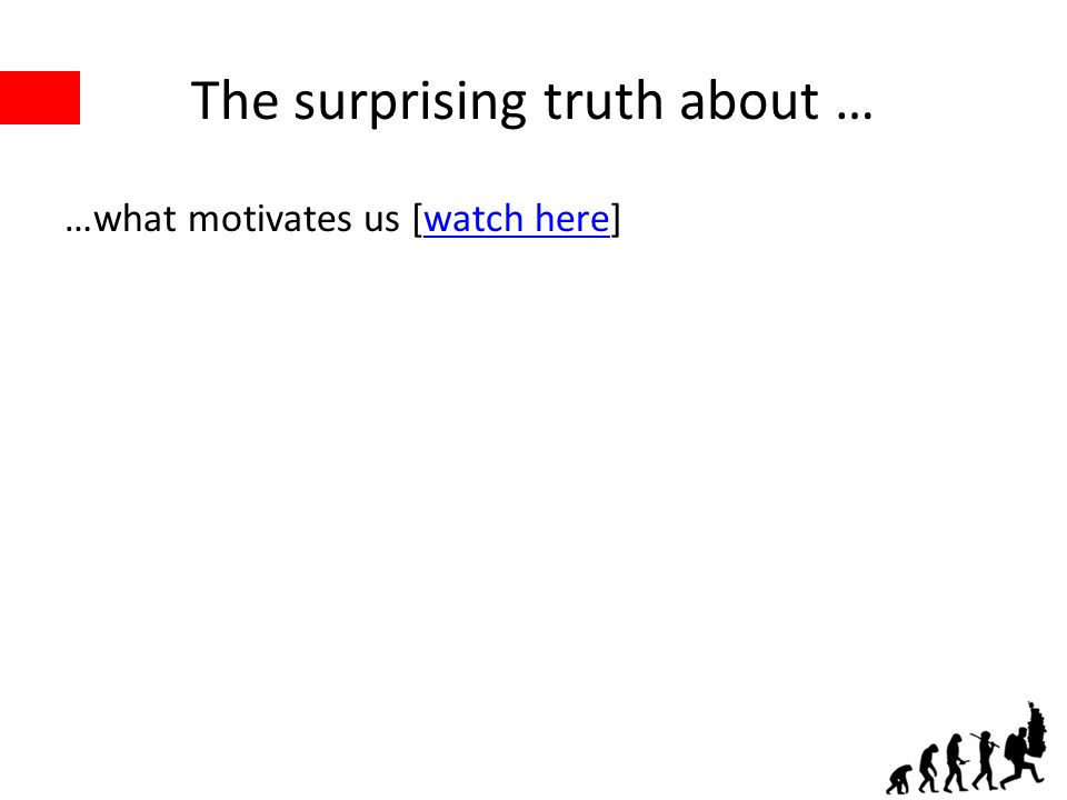 The surprising truth about … …what motivates us [watch here]watch here