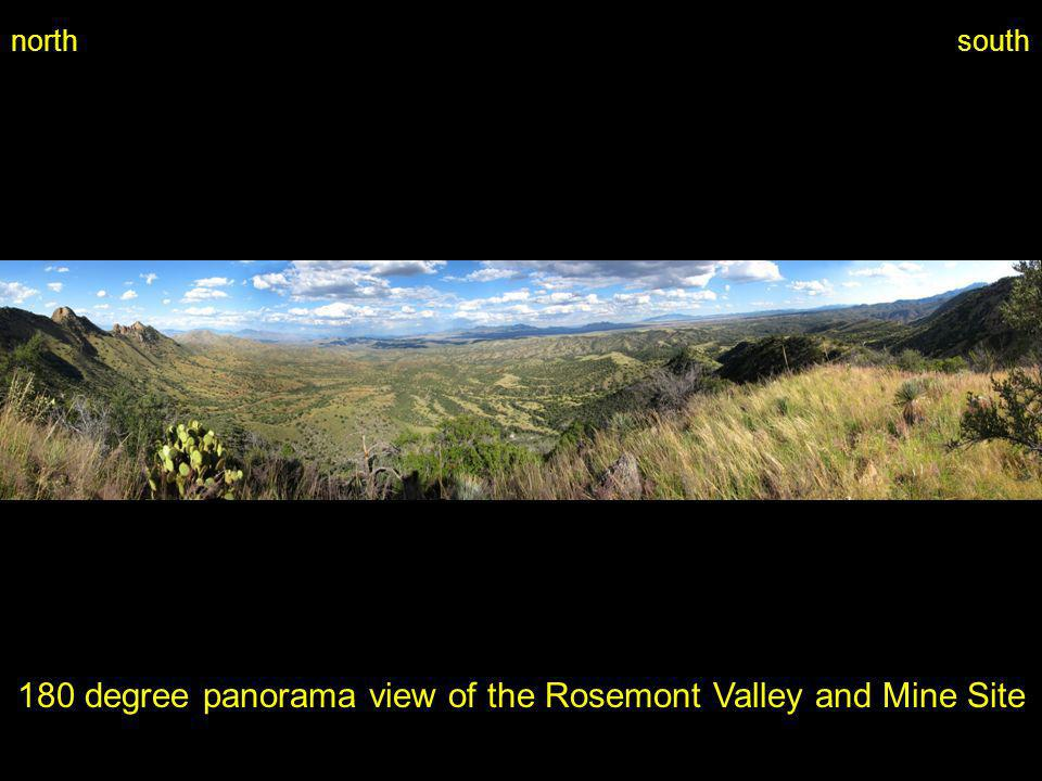 180 degree panorama view of the Rosemont Valley and Mine Site northsouth