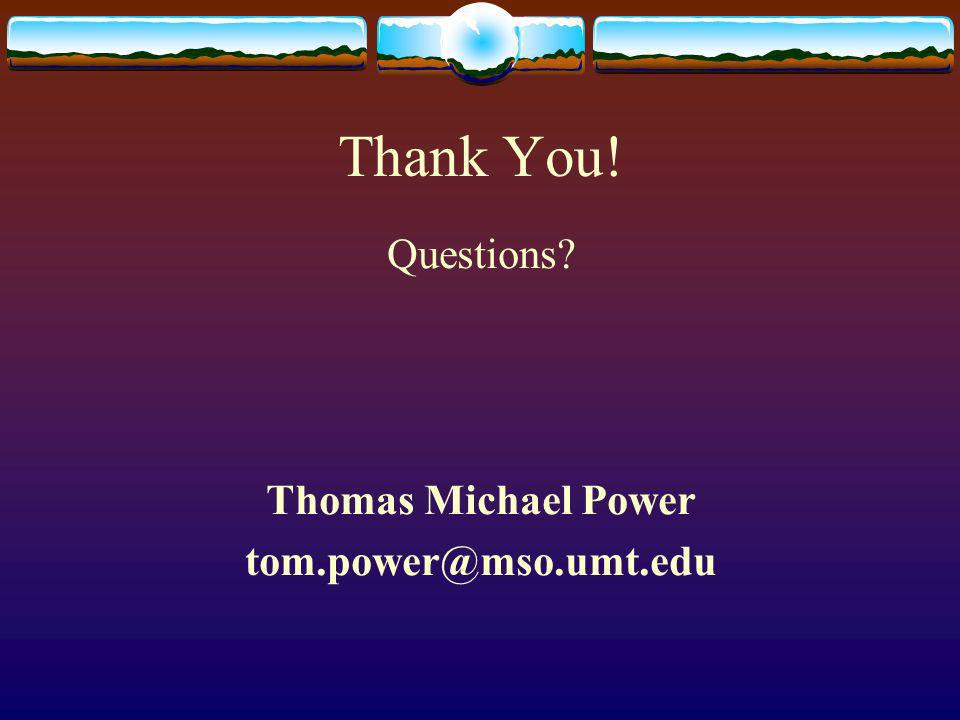 Thank You! Questions Thomas Michael Power