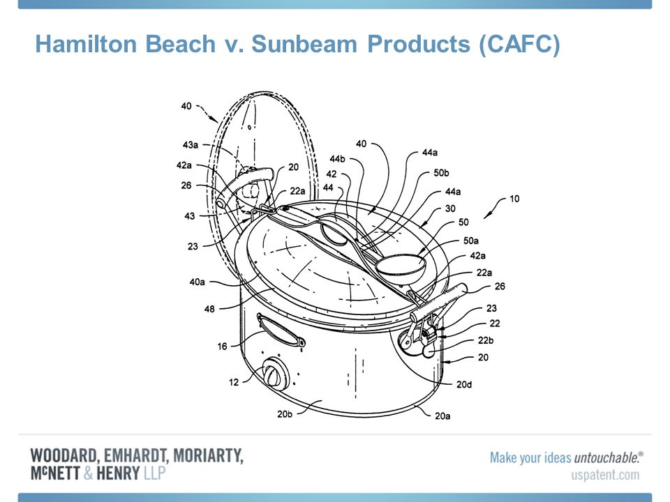 Hamilton Beach v. Sunbeam Products (CAFC)