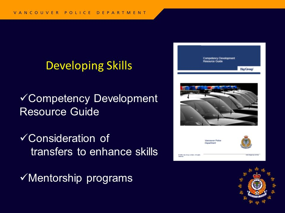 Developing Skills Competency Development Resource Guide Consideration of transfers to enhance skills Mentorship programs