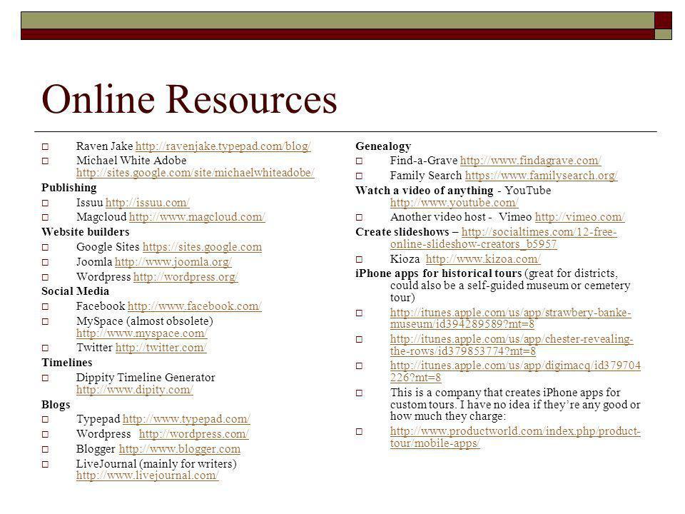 Tool Shed: Virtual Building Blocks for Historic Preservation Jane Pojawa - ppt download - 웹