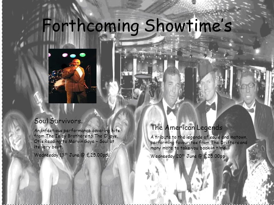 Forthcoming Showtimes Soul Survivors.