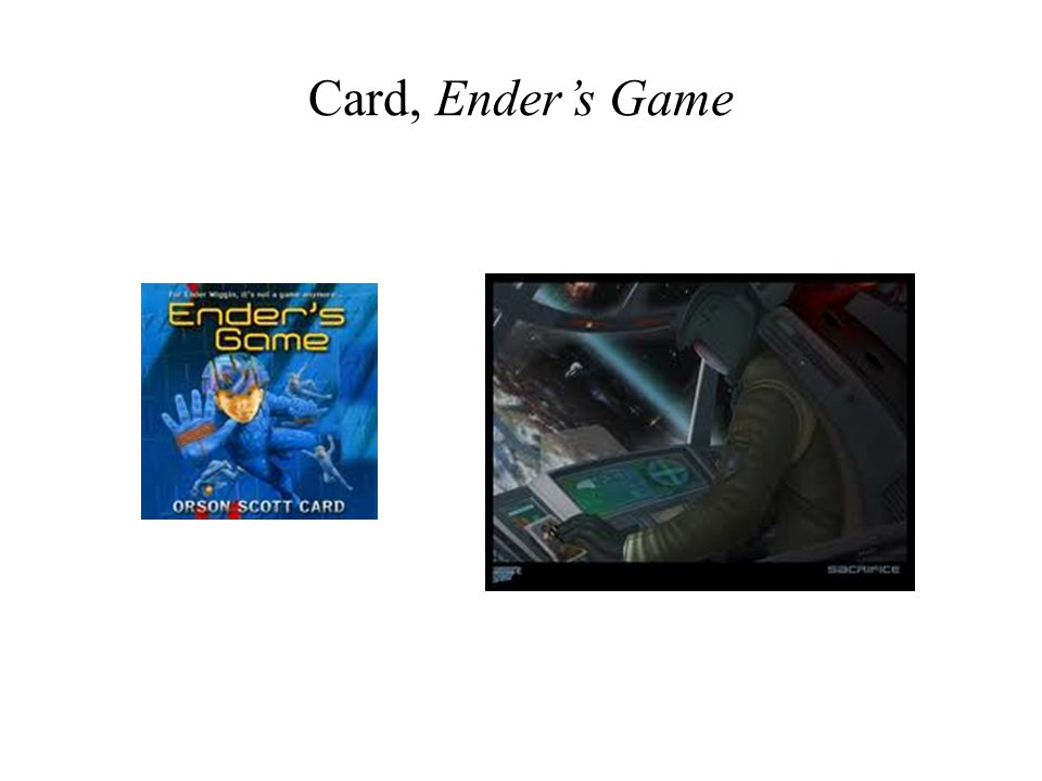 Card, Enders Game