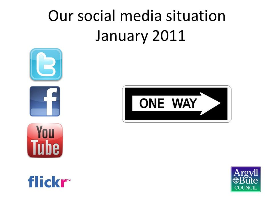 Our social media situation January 2011