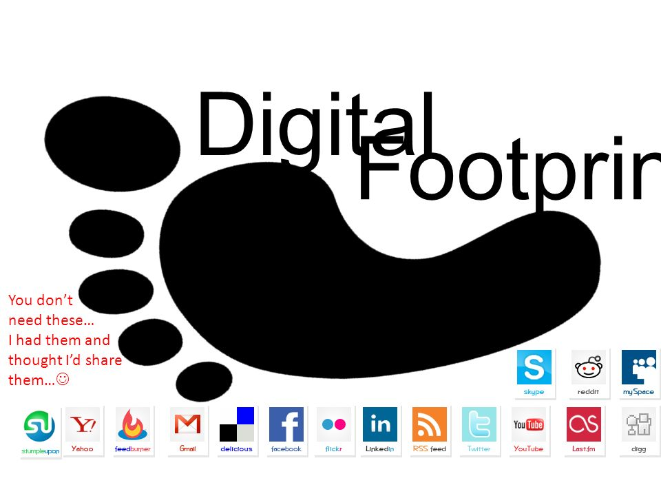 Digital Footprint: You dont need these… I had them and thought Id share them…