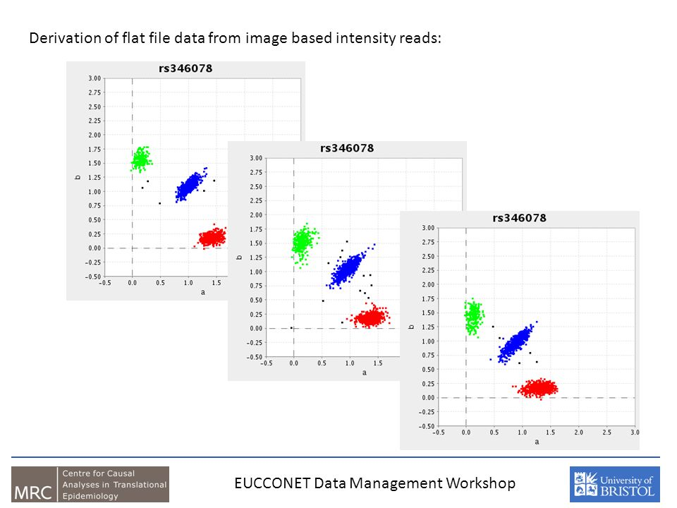 EUCCONET Data Management Workshop Derivation of flat file data from image based intensity reads:
