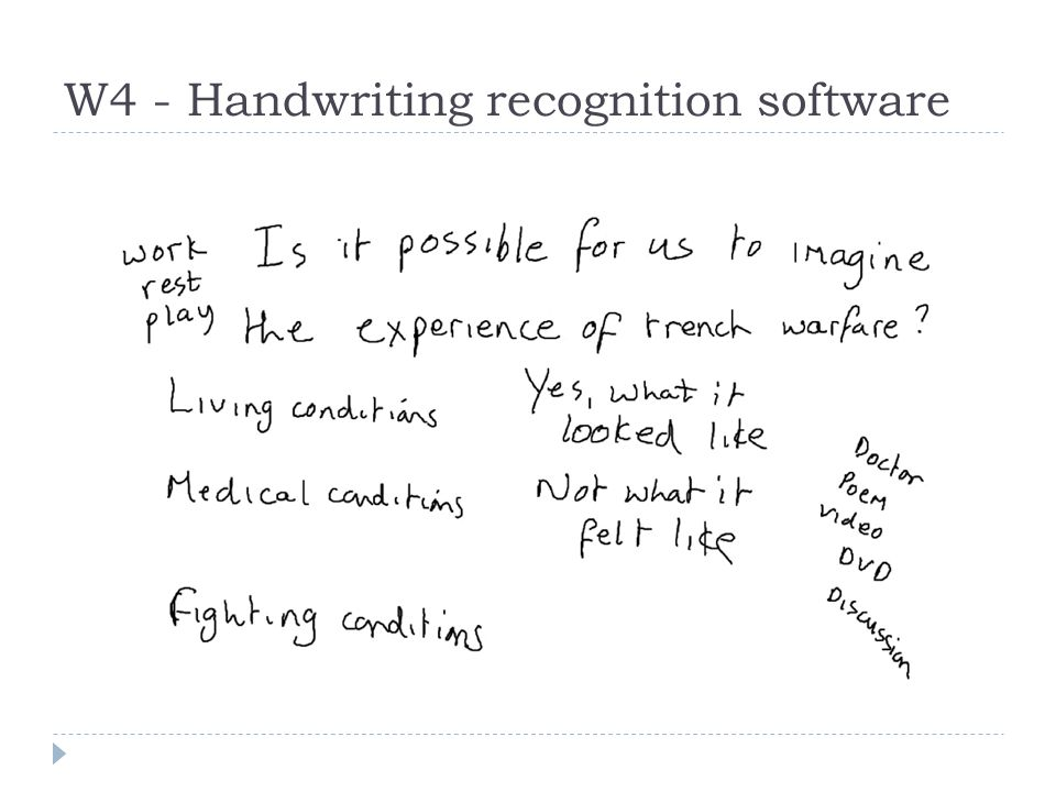 W4 - Handwriting recognition software