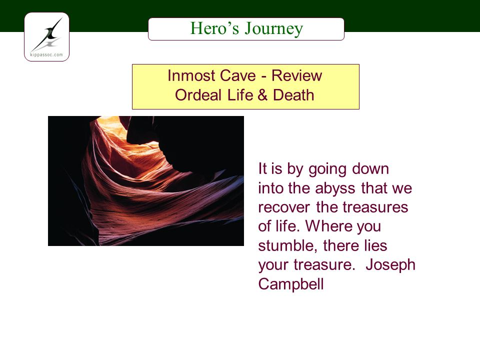 Heros Journey Inmost Cave - Review Ordeal Life & Death It is by going down into the abyss that we recover the treasures of life.